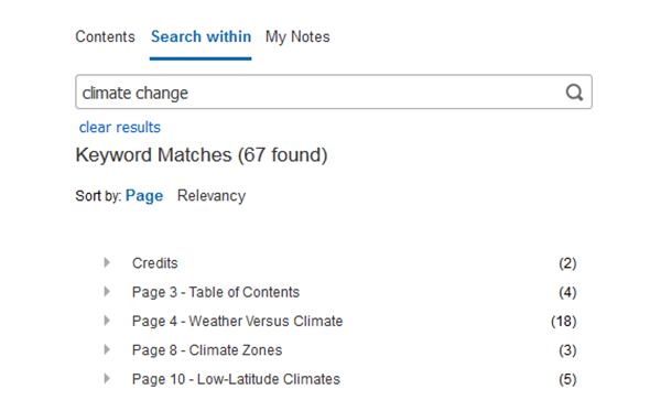 EBSCO eBooks Search Screenshot