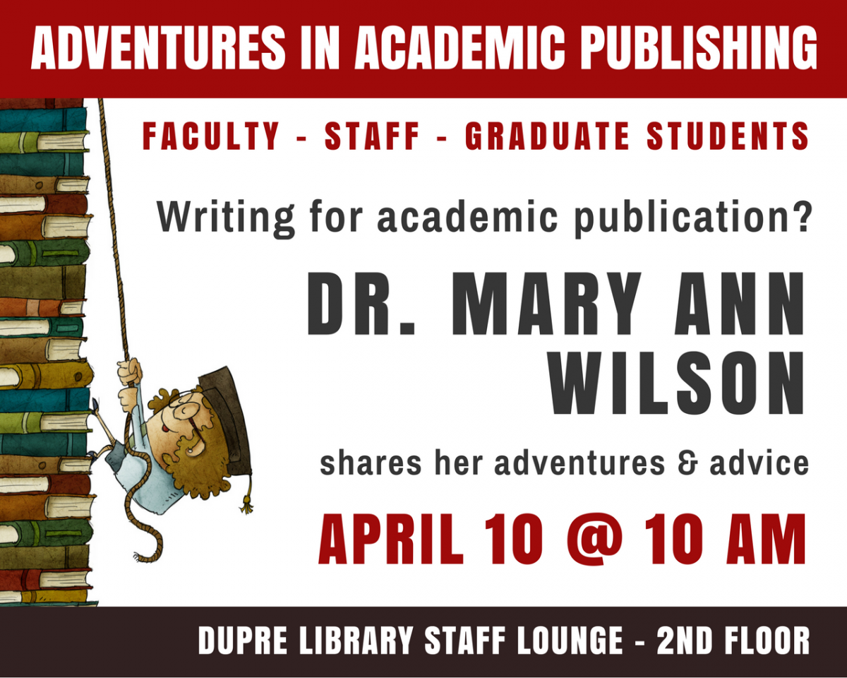 Flyer: Adventures in Academic Publishing - 2018 Spring