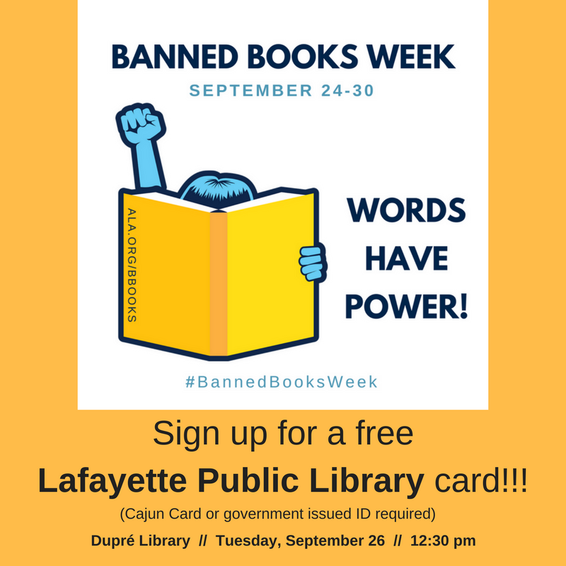 Flyer: Banned Books Week - 2017 Fall