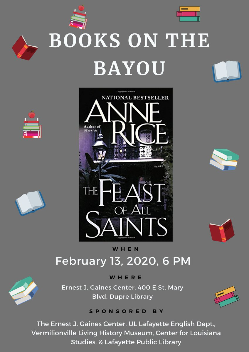 Event: Books on the Bayou Bayou - The Feast of All Saints - 2020 Spring