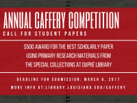 Flyer: Caffery Competition - 2017 Spring