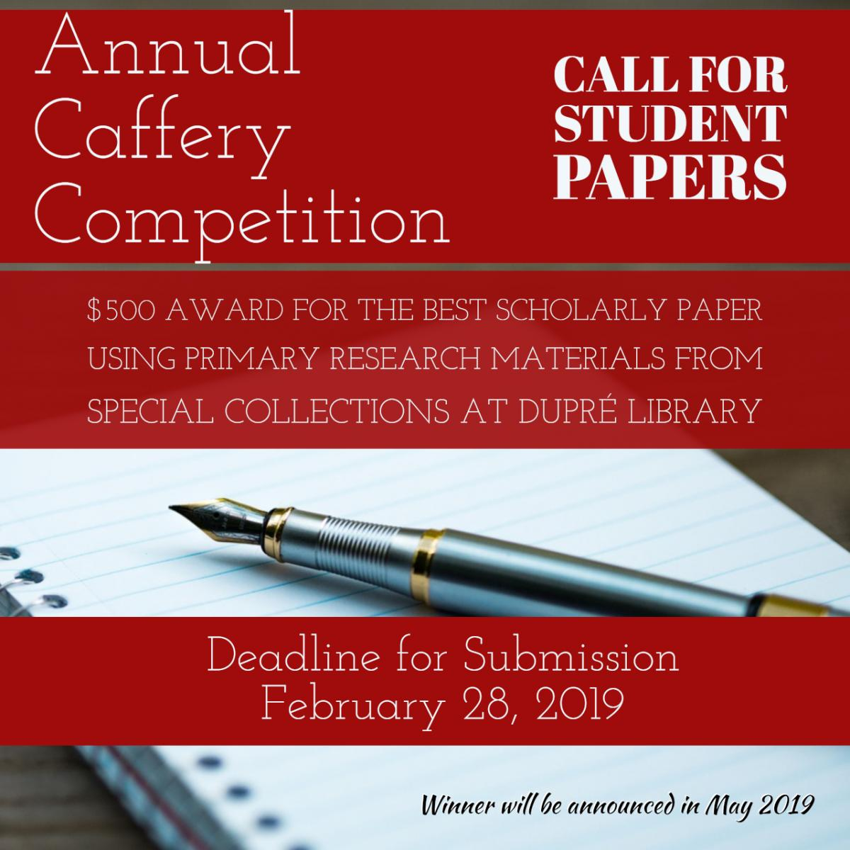 Flyer: Caffery Competition - 2019