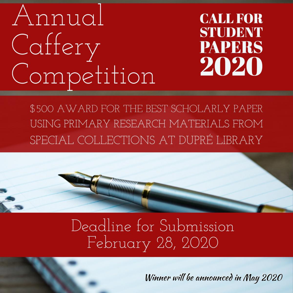 Flyer: Caffery Competition - 2020