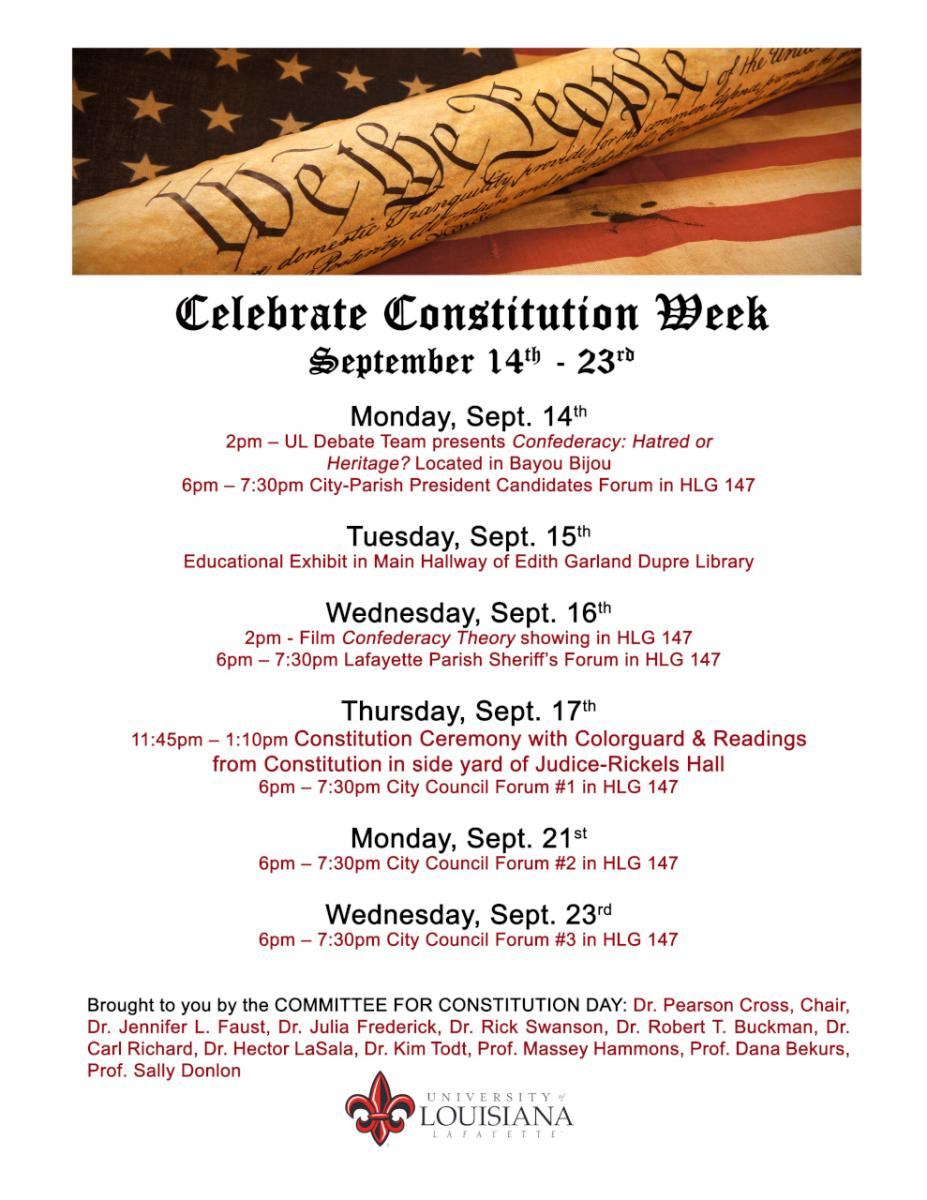 Flyer: Constitution Day - 2015 Fall