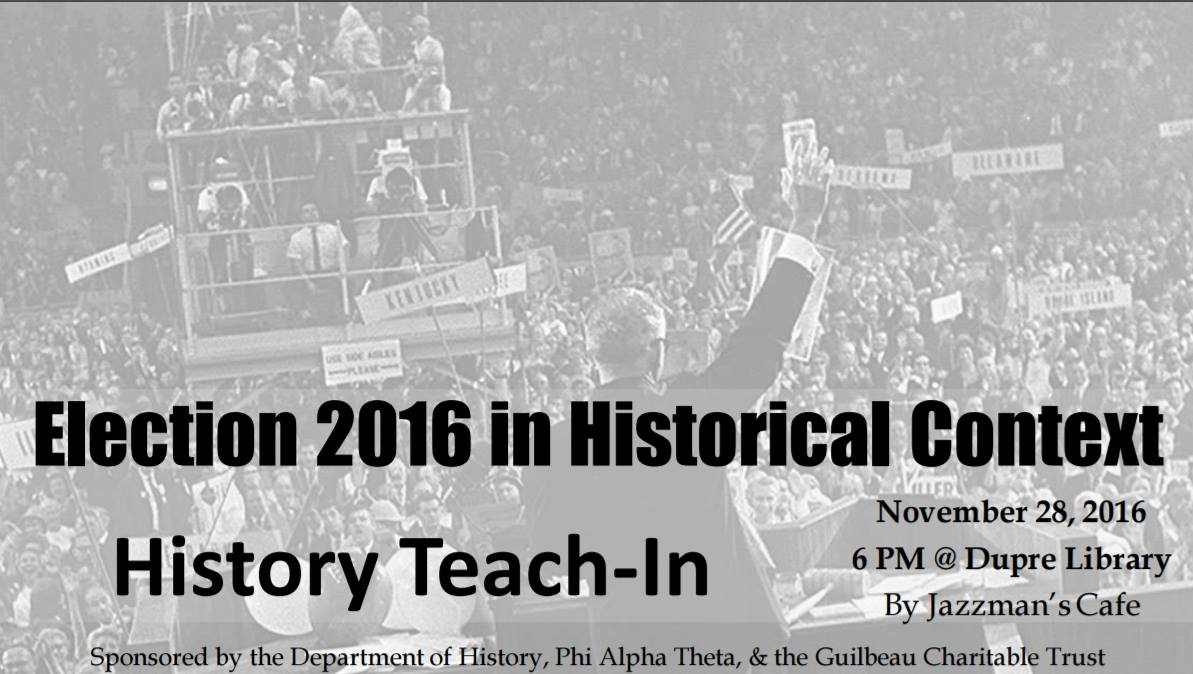 Flyer: History Teach In - 2016 Fall