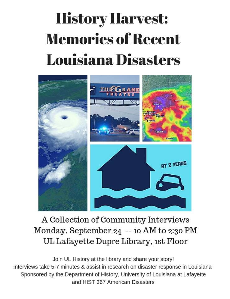 Flyer: A Collection of Community Interviews - 2018 Fall