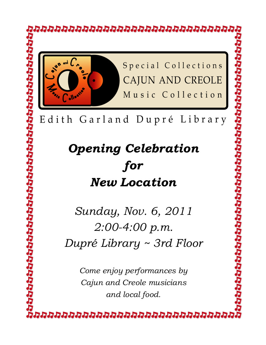 Flyer: CCMC Opening - 2011 Fall