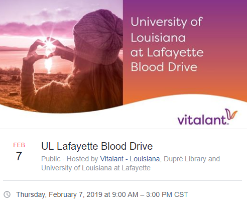 Blood Drive - 2019 Spring
