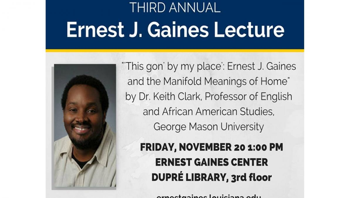 Flyer: Gaines Lecture Series - 2015 Fall