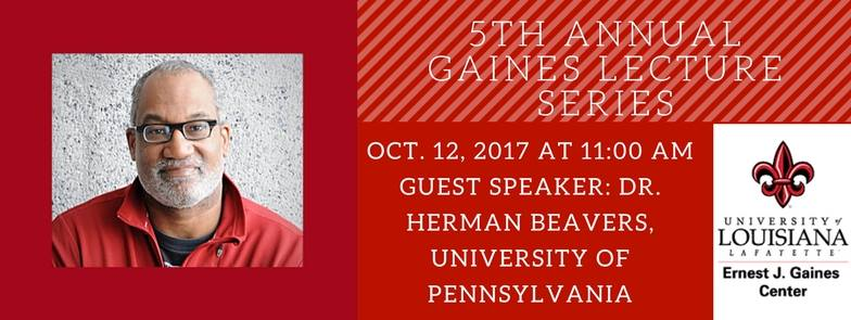 Flyer: Gaines Lecture Series - 2017 Fall