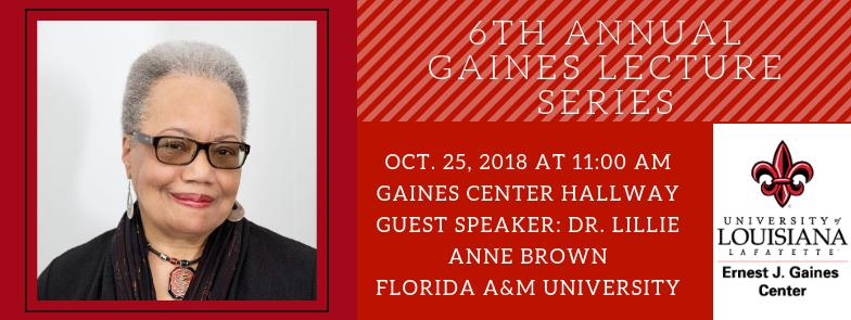 Flyer: Gaines Lecture Series - 2018 Fall