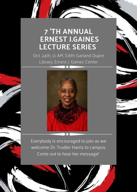 Flyer: Gaines Lecture Series - 2019 Fall