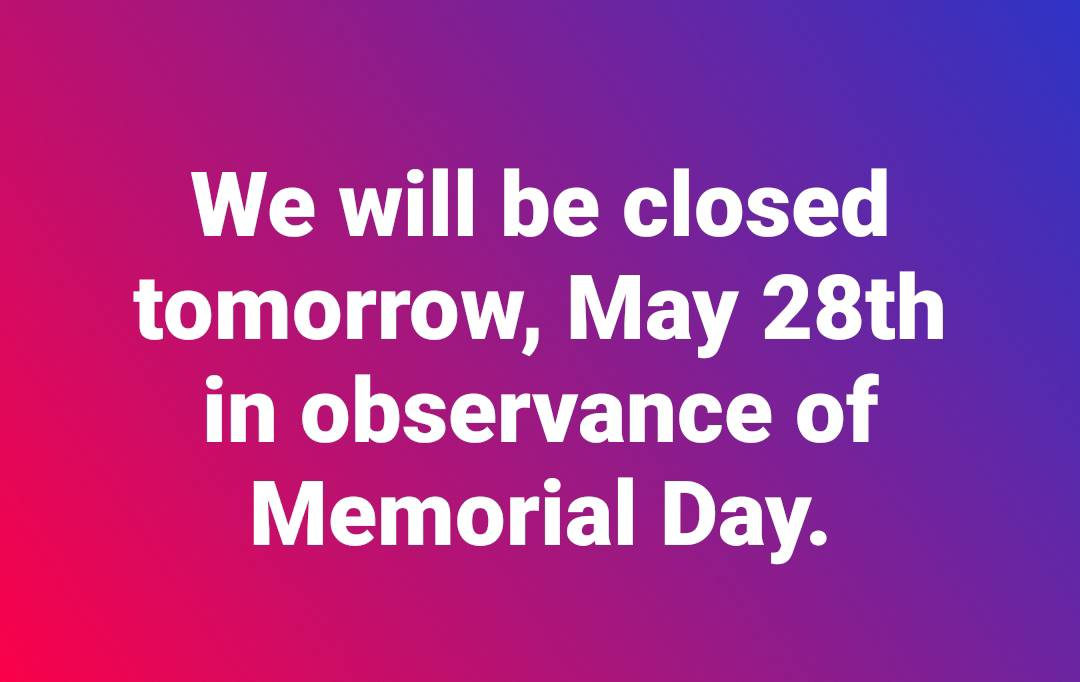 Flyer: Hours - 2018 Spring Memorial Day