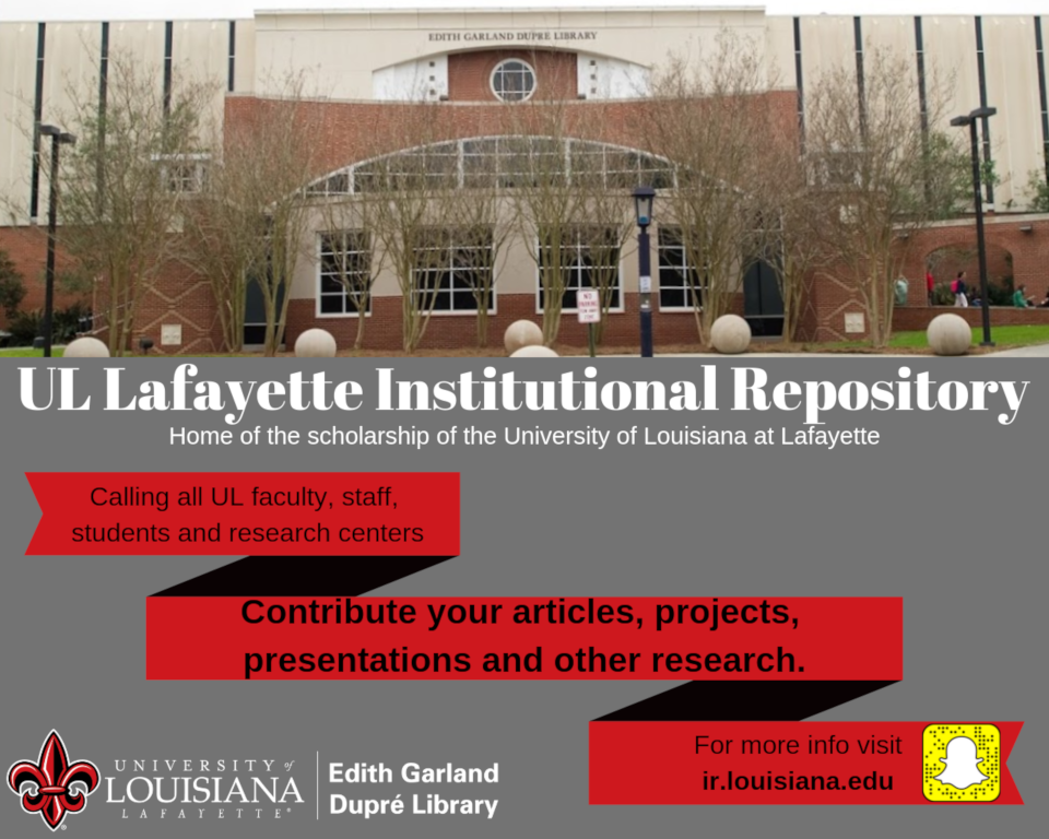 Flyer: Institutional Repository Announcement - 2019 Spring