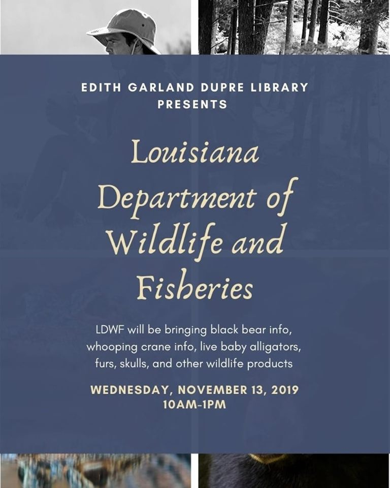 Flyer: Louisiana Department of Wildlife and Fisheriers - 2019 Fall