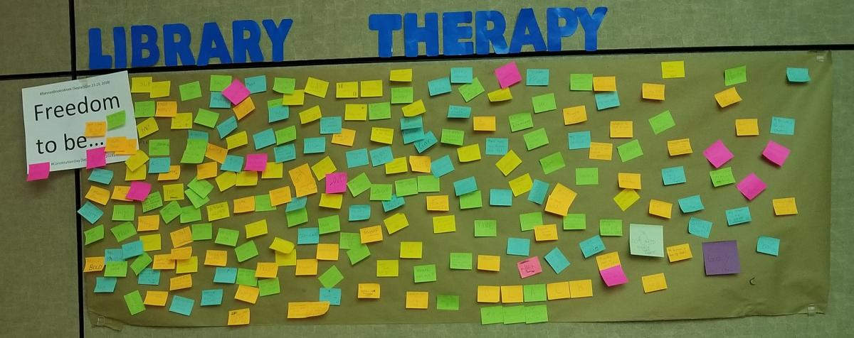 Library Therapy - 2018 Fall - Freedom to Be...
