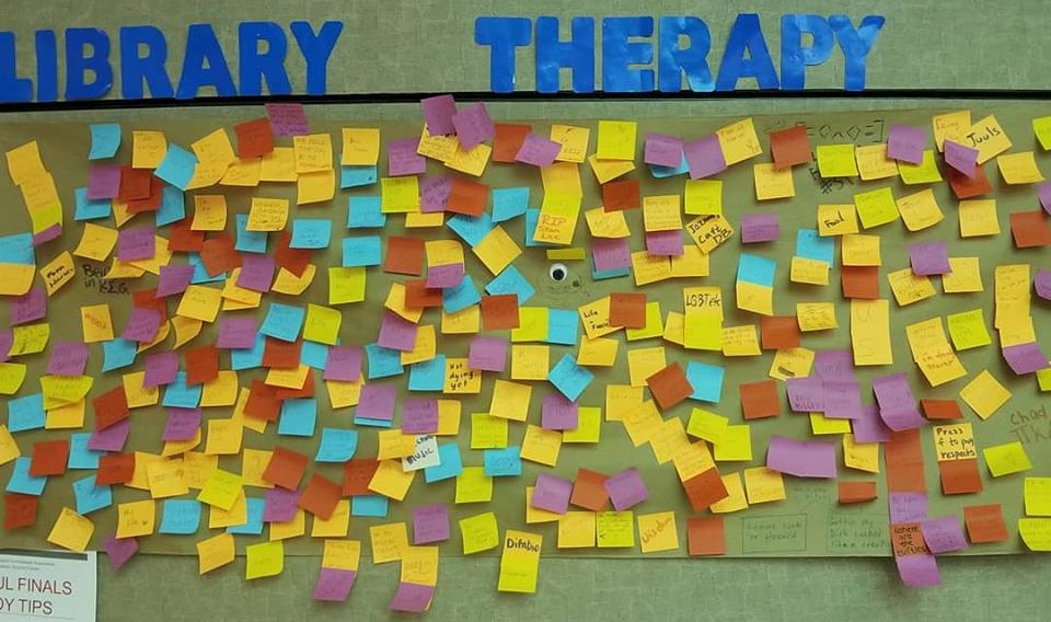 Library Therapy Wall: 2018 Fall - What Are You Thankful For?...