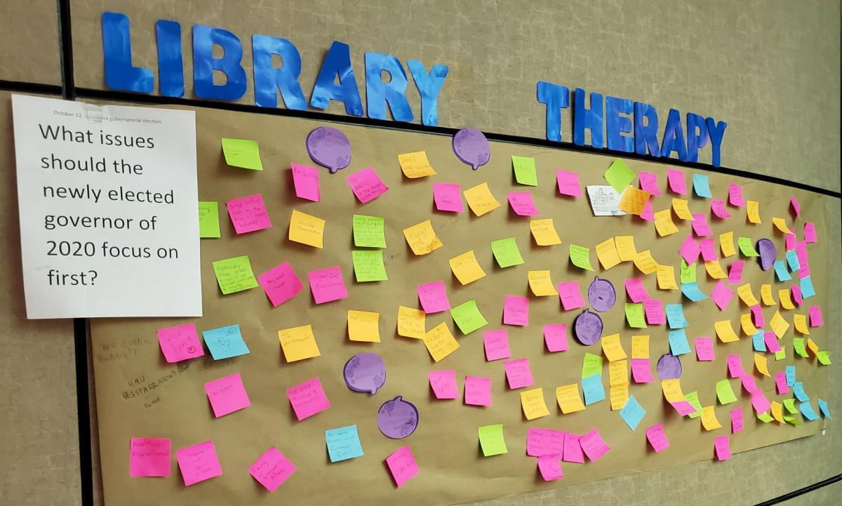 Library Therapy Wall: 2019 Fall - What Issues Should the Newly Elected Governor of 2020 Focus on First...