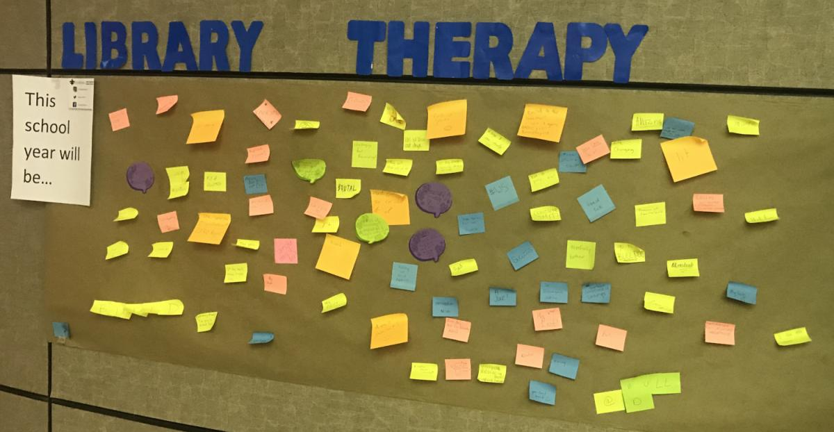 Library Therapy Wall: 2019 Spring - This School Year Will Be...
