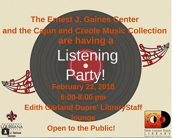 Flyer: Listening Party - 2018 Spring