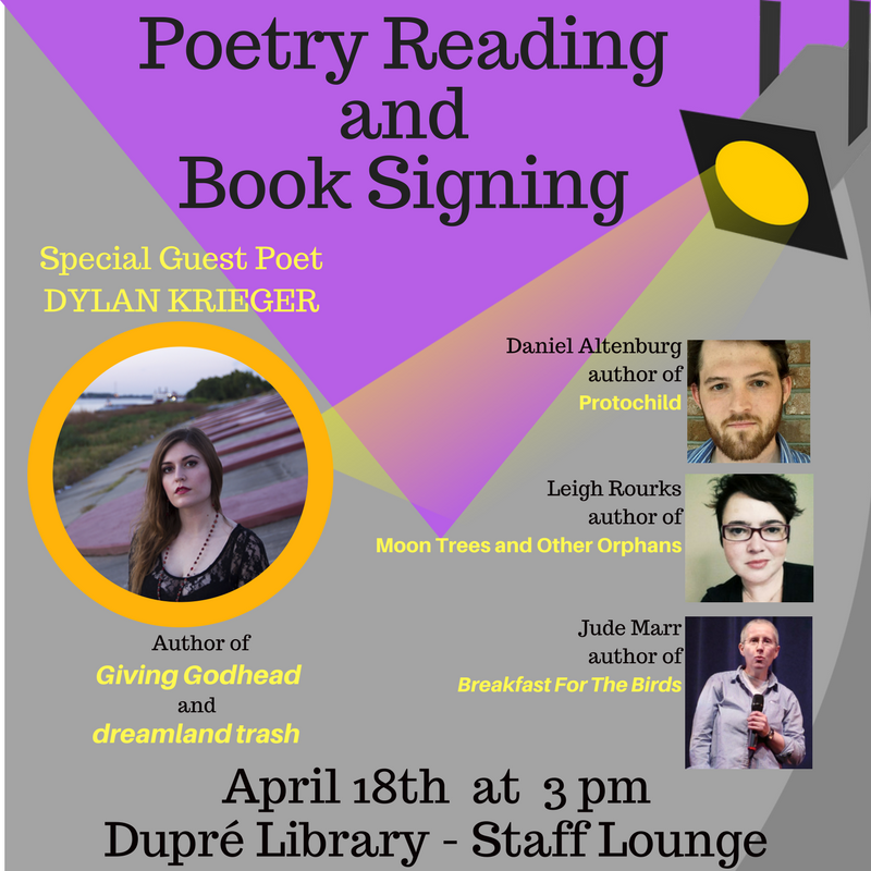 Flyer: Poetry - 2018 Spring