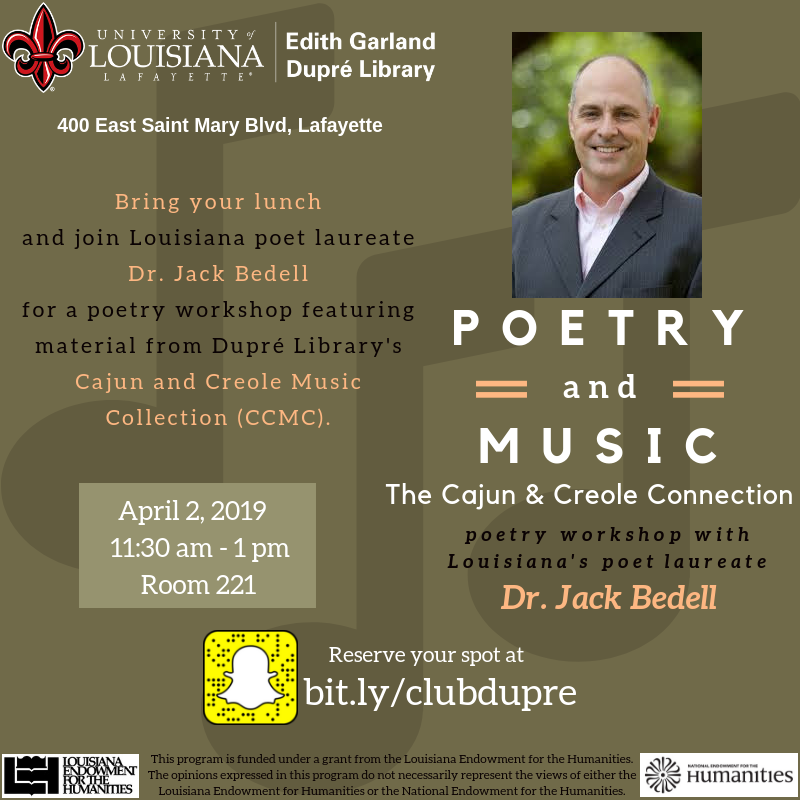 Poetry & Music - Dr. Jack Bedell - 2019 Spring