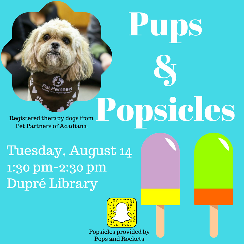 Flyer: Pups & Popsicles - 2018 Fall