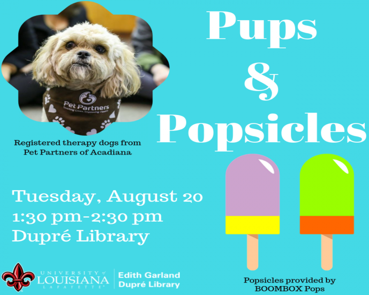 Flyer: Pups & Popsicles - 2019 Fall