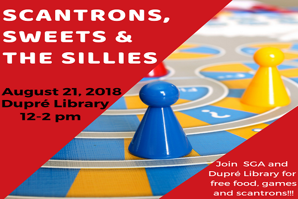 Flyer: Scantrons, Sweets & The Sillies - 2018 Fall