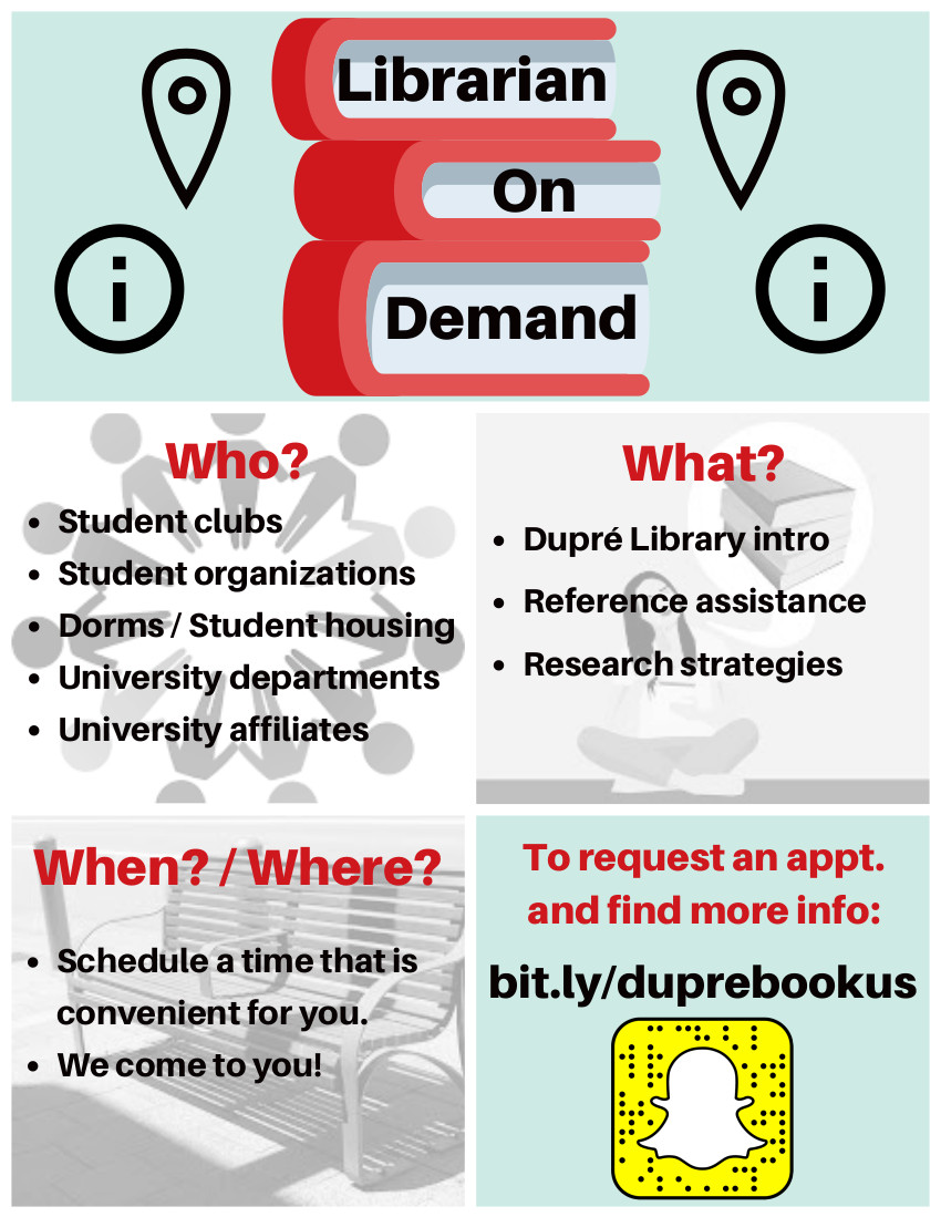 Flyer: Library On Demand - 2018 Fall
