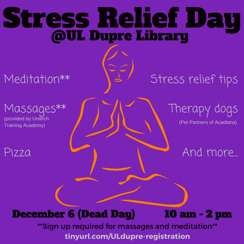 Flyer: Stress Relief Day - 2017 Fall