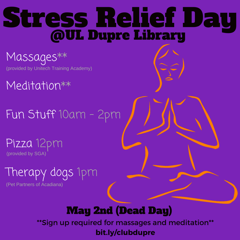 Flyer: Stress Relief Day - 2018 Spring