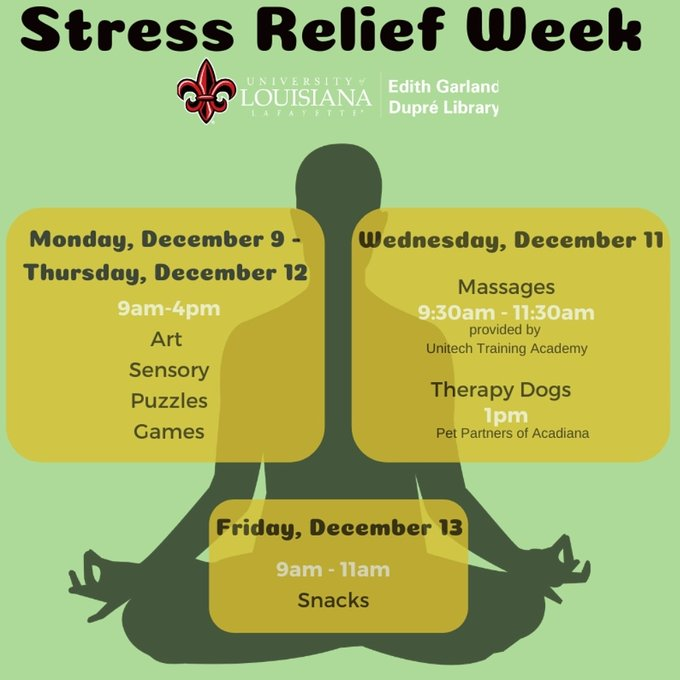 Flyer: Stress Relief Day - 2019 Fall