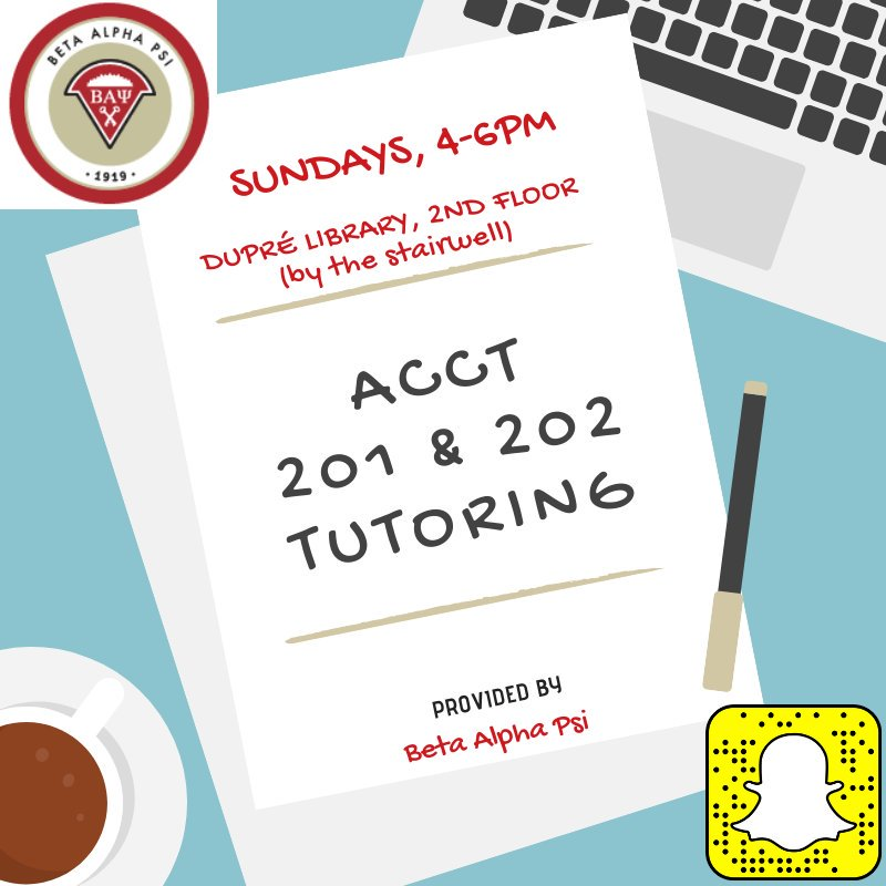Flyer: Tutoring - 2019 Fall - Accounting