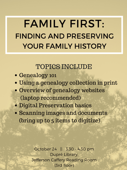 Flyer: Workshops - Family First - 2017