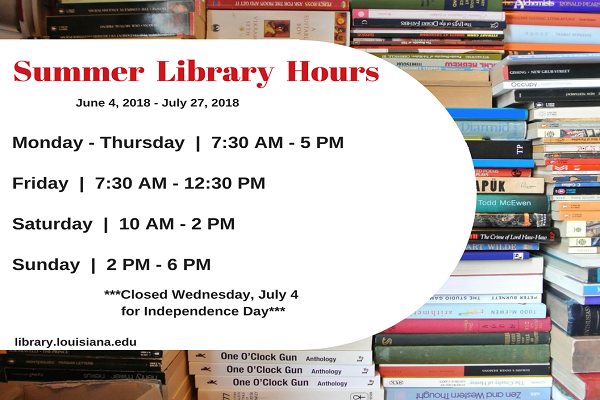 Dupré Library Hours