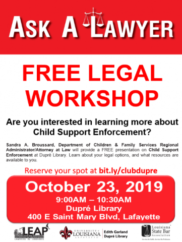 Lawyers in Libraries Flyer