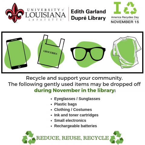 Library's Recycles Day Flyer