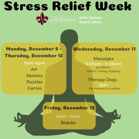 Stress Relief Week Flyer