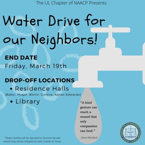 water drive for our neighbors